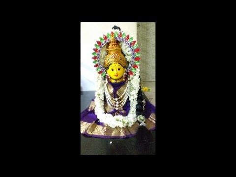 Varalakshmi Vratham idol saree decoration draping for idol   Varamahalakshmi Pooja or Habba  2017