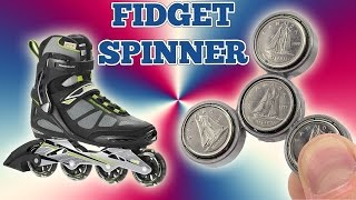 How To Make a Simple Fidget Spinner Out Of Old Rollerblade Wheels