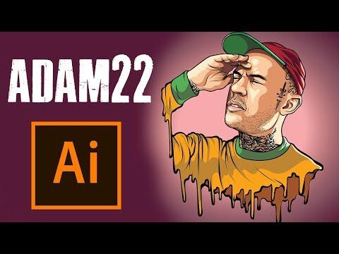 HOW TO MAKE A CARTOON   ADAM22 - ADOBE ILLUSTRATOR TUTORIAL