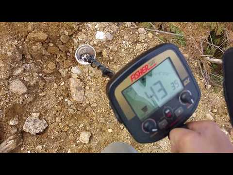 Find gold nugget with quartz 8,45 gram with a metal detector Fisher Gold Bug