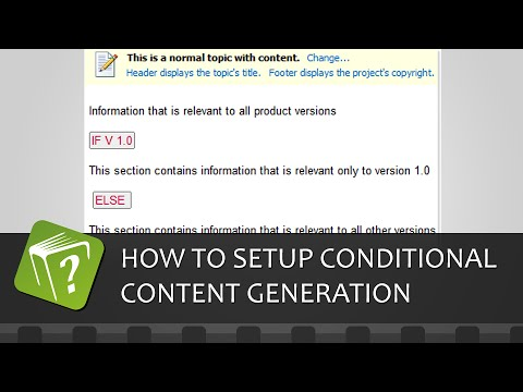 How to setup conditional content generation (Step-by-step guide)