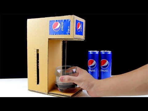How to Make Pepsi Cola Fountain Machine from Cardboard!