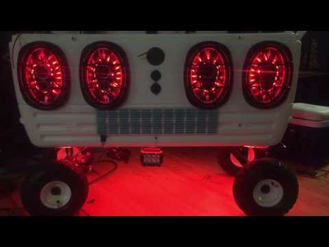 RGB LEDs Demo in 150qt Cooler Speakers