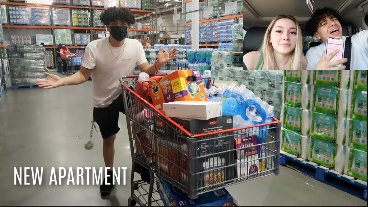 The first day at my NEW APARTMENT | grocery shopping, cleaning, organizing