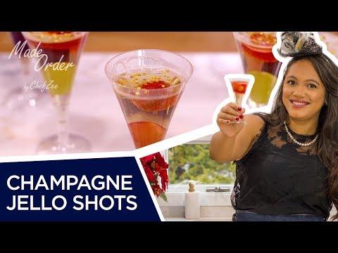 Champagne Jello Shots | NYE Jello Shots Drinks | Made To Order | Chef Zee Cooks