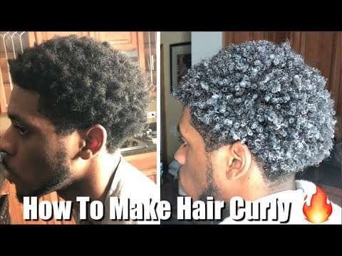 Men's Curly Hair Tutorial | How to Make Hair Curly