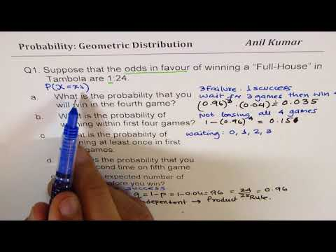 Discrete Probability Geometric Distribution Concepts and Examples