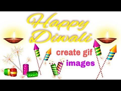 Happy Diwali How to Create GIF image [Hindi]