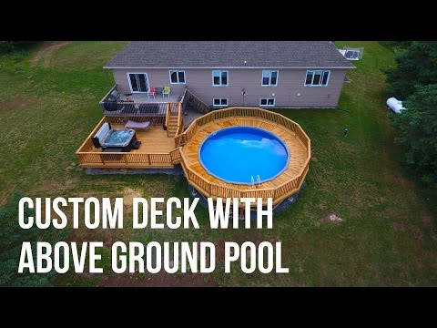 Custom Deck with Above Ground Pool