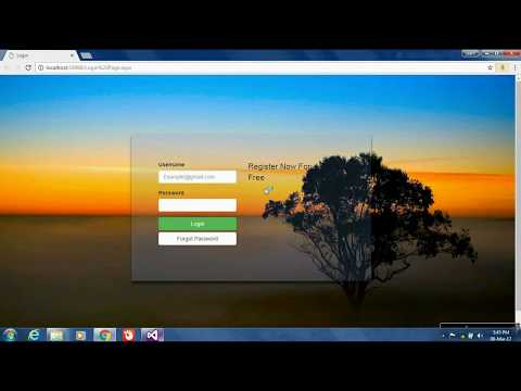 Asp.net Login Page Design using Bootstrap Transparent Page