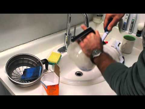 How to clean a commercial coffee decanter pot