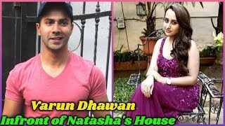 Varun dhawan Infront of His Girlfriend's House