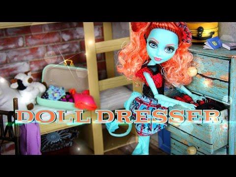 DIY - How to Make:  Doll Dresser - FURNITURE - Handmade - Doll - Crafts