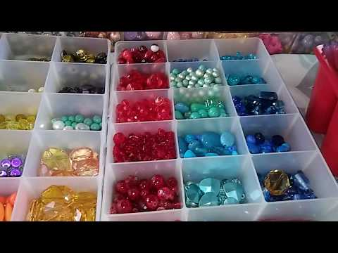 Walmart Beads haul for chunky charm and how I store my beads
