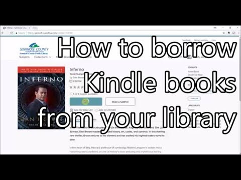 How to Borrow Kindle Books from Your Library