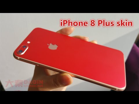 How to make iPhone 8 Plus skin - Made by DAQIN mobile case machine