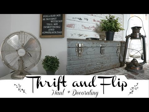Thrift & Flip | Decorating Thrifted Finds | Thrift Haul 2018