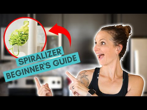 Spiralizer Beginner's Guide - Veggie Spiralizer Recipes | How To Spiralize | A Sweet Pea Chef