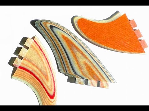 How to make surfboard fins with bend