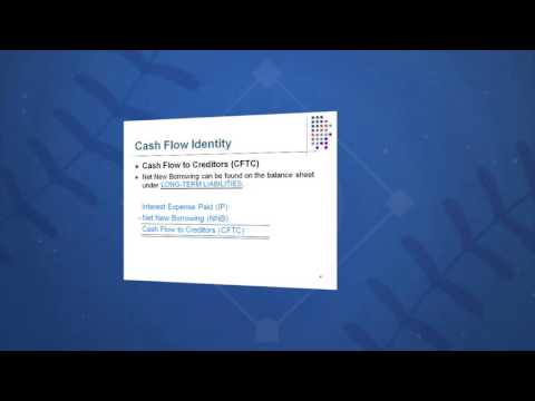 Session 02: Objective 4 - The Cash Flow Identity (2016)