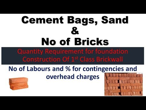 Quantity for 1st class brickwork in foundation