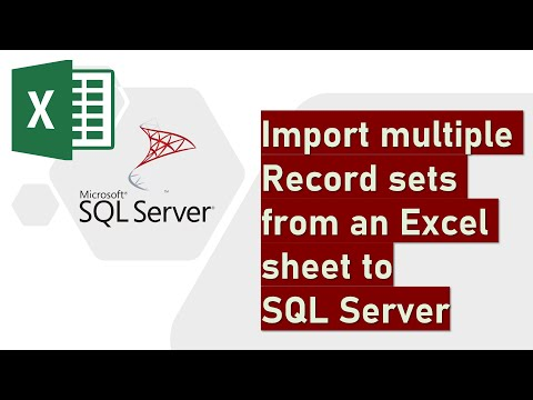 Import multiple Recordsets from an Excel sheet to SQL Server