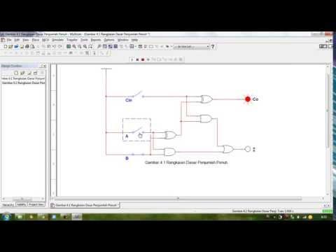 Multisim Tutorial -  Full Adder Circuit