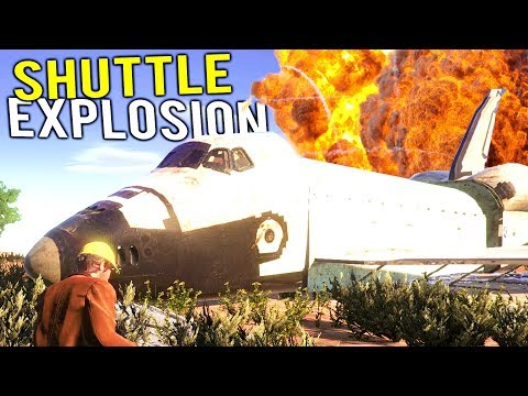 DEMOLITION TEAM BLOWS UP SPACE SHUTTLE IN AREA 51! - Demolish and Build 2018