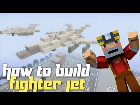Minecraft Xbox 360: How to Build a Fighter Jet!