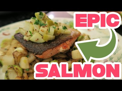 EPIC SEARED SALMON!! Cooking with aDrive! Seared Salmon and Fall Vegetables Featuring Blue Apron