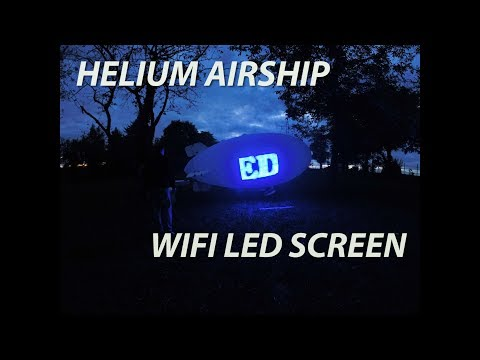 how to make a Flying LED Screen WS2813 RC Airship blimp Helium balloon Werbe Zeppelin how it´s made