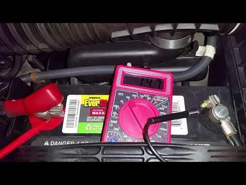 2001-2006 Acura MDX - Testing Alternator Charging Voltage - Multimeter on 12V Battery