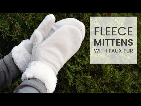 How to Make Fleece Mittens with Faux Fur