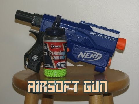 How To Turn A Nerf Gun Into An Airsoft Gun│The Home Lab
