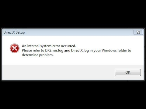 How to Fix DXError.log and DirectX.log |Installing DirectX problem|