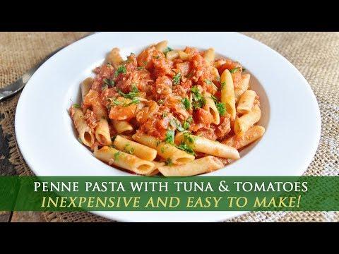 Easy Penne Pasta with Tuna & Tomato Sauce Recipe