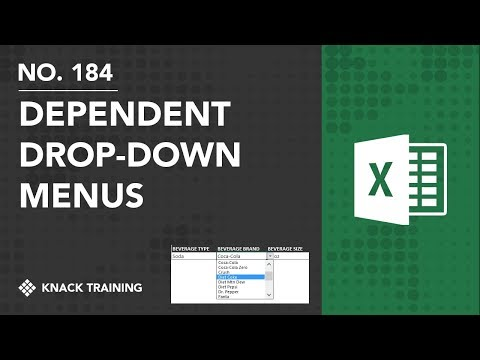 Creating Dependent Drop Downs in Excel | Everyday Office 074