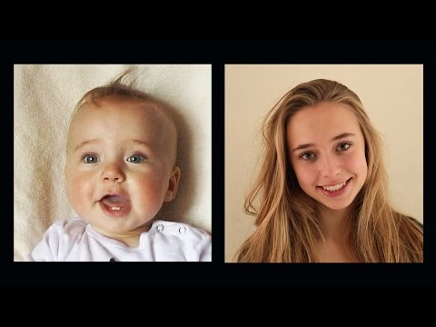 Portrait of Lotte, 0 to 16 years in 4 ½ minutes.
