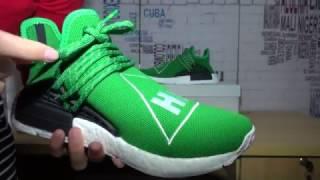 54d6e8bd5 2016 Best Replica Pharrell Williams NMD Human HU Green Review