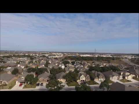 Drone Flight in Texas Neighborhood-Catching Glimpse of a Hawk