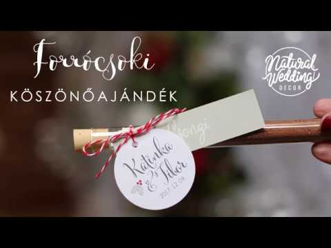 Forrócsoki köszönőajándék DIY || Natural Wedding Decor || Hot chocolate wedding favor tutorial