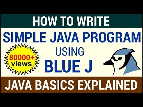 How To Write A Simple Java Program Using BlueJ