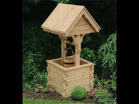 Homemade  Wooden Well for garden.