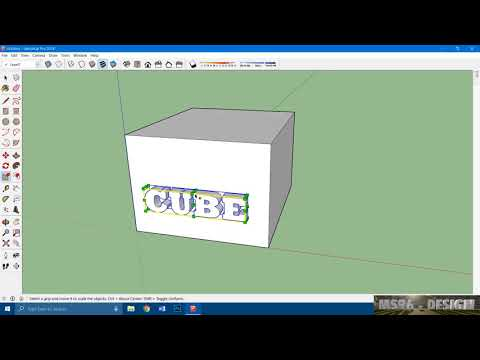 Add 3D Text in SketchUp Models