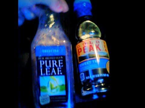 Review Pure Leaf vs. Gold Peak Sweet Tea Comparison REVIEW Real Sugar NO HFCS