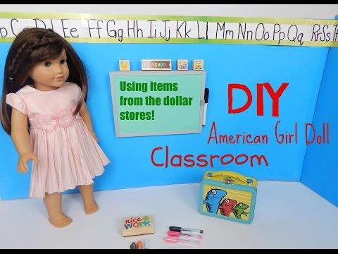 DIY American Girl Doll Classroom