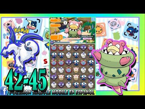Pokemon Shuffle Mobile 42-45 Absol y Mega slowbro