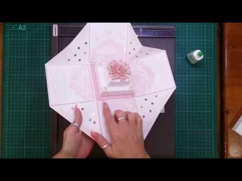Cake tutorial for Wedding Exploding Box Card