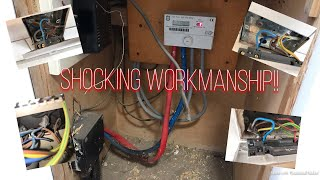 Electricians day testing and inspecting one of the worst installs.