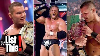 8 times a championship changed hands multiple times in one night: WWE List This!